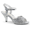 BELLE - 309G Silver with Glitter